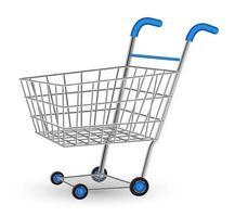 carrinho de compras real vetor