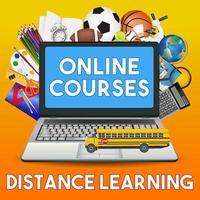 cursos online educação a distância vetor