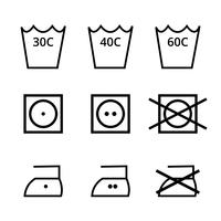 Pack de vetor de símbolo de lavagem