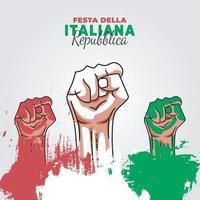 pôster do dia da república da itália vetor