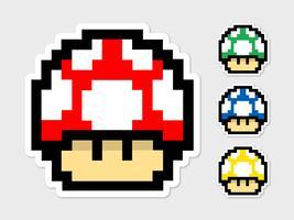 Mario cogumelo pacote de vetores