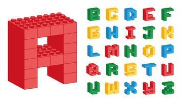 Alfabeto de Lego vetor