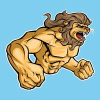 Mascote de esportes de leão de vetor