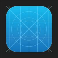 Grelha de vetor de ícone IOS7 App