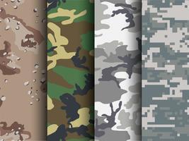 Padrões de Camuflagem Gratuitos para Illustrator e Photoshop vetor