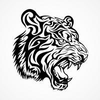 Vetor de tigre tribal