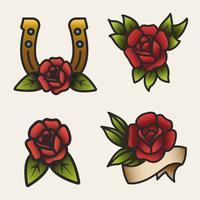 Vetor de rosa vermelha