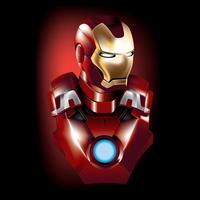 Super-herói de vetor de homem de ferro