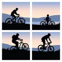 Pacote de vetores de ciclismo de montanha