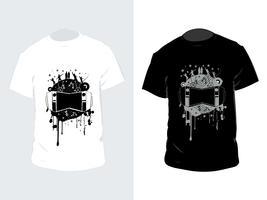 Vetor de camiseta preto e branco