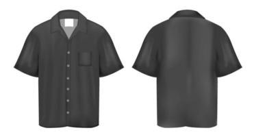 camisa pólo preta vetor