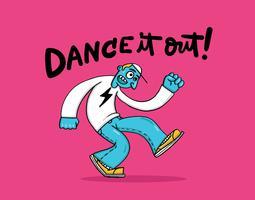 cara dançando vetor