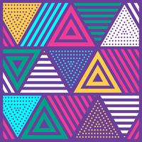 Fundo festivo Neo Memphis estilo colorido decorativo papel de parede vetor