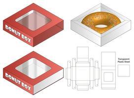 design de modelo cortado de embalagem webbox. Maquete 3D vetor