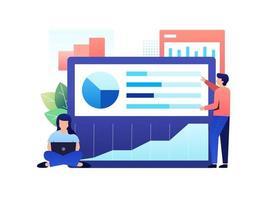 analisar relatório de dados vetor
