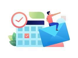 agenda e calendário de negócios vetor