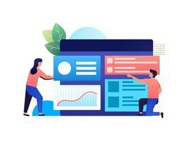 desenvolvimento de plataforma de negócios vetor