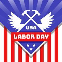 Vetor do dia do trabalho EUA