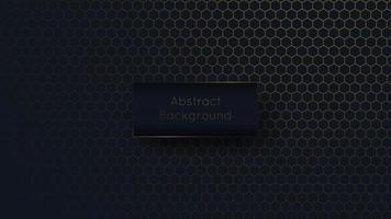fundo de estilo favo de mel de luxo abstrato azul e dourado vetor