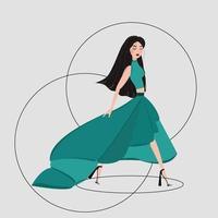 ilustração de menina de moda vetor