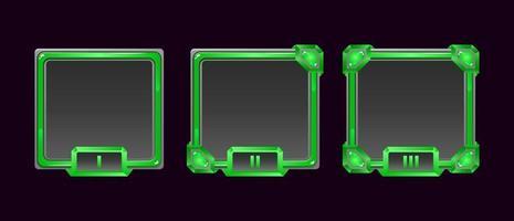 conjunto de moldura de avatar de borda da interface do usuário do jogo de geléia com grau para elementos de recursos de interface do usuário vetor