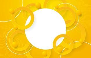 fundo do círculo amarelo vetor