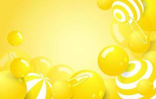 fundo abstrato amarelo bolha vetor