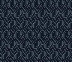 padrão de hexágono com forma tridimensional vetor