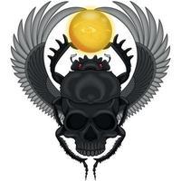 besouro alado com crânio vetor