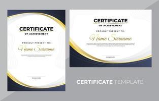 certificado de modelo de realização vetor