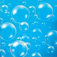 esfera ou esfera de vidro transparente branco, bolha brilhante brilhante. ilustrador vetorial 10 vetor