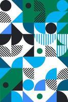 estilo bauhaus padrão geométrico abstrato vetor