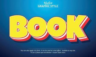 texto de livro, estilo gráfico de arte em quadrinhos vetor