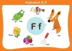 ilustração em vetor letra f do alfabeto