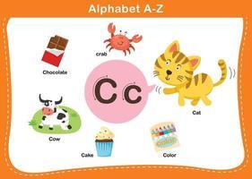 ilustração em vetor letra c do alfabeto