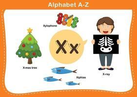 letra do alfabeto x ilustração vetorial vetor