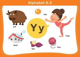 ilustração em vetor letra do alfabeto y