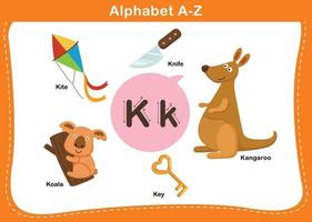 ilustração em vetor letra k do alfabeto