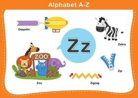 ilustração em vetor letra z do alfabeto
