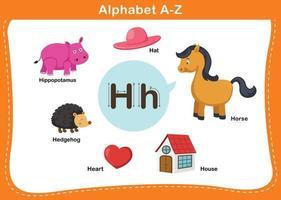 ilustração em vetor letra h do alfabeto