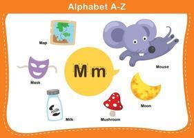 ilustração em vetor letra m do alfabeto