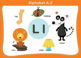 ilustração em vetor letra l do alfabeto