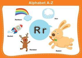 ilustração em vetor letra r do alfabeto