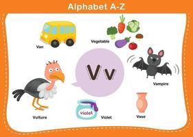 ilustração em vetor letra v do alfabeto