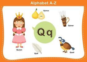 ilustração vetorial q letra do alfabeto vetor