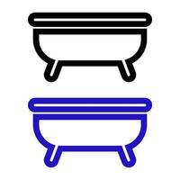 ícone de banheira em fundo branco vetor