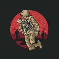 ilustração do soldado da justiça vetor