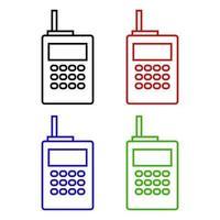 ícone de walkie-talkie em fundo branco vetor