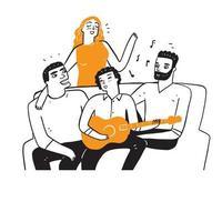 melhores amigos estão cantando vetor