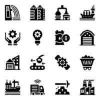 indústrias e moinhos vetor